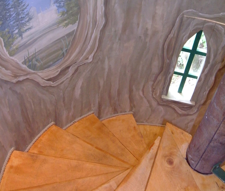 Climb the stairs to your very own treehouse